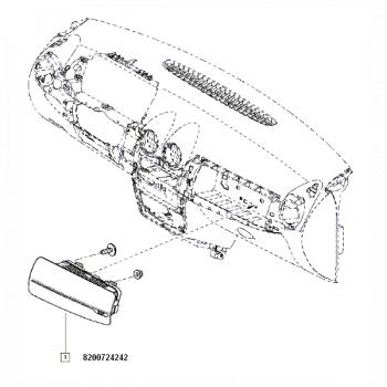 Airbag Pasager Dacia Duster 8200724242 Elemente caroserie