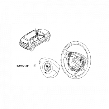 Airbag Sofer Dacia Duster 8200724241