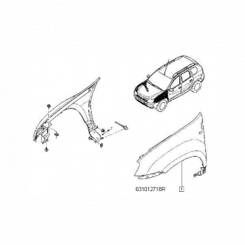 Aripa Fata Dacia Duster Elemente caroserie