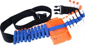 Set accesorii compatibile pentru arme de jucarie Nerf N-Strike magazie curea 30 rezerve