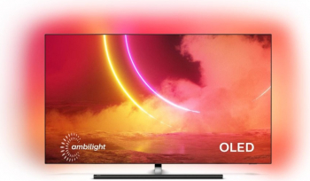 Televizor OLED Philips 65OLED865 Smart TV 4K Ulra HD Android TV Ambilight 164 cm negru Clasa B