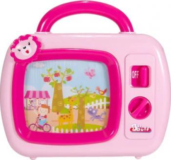 Jucarie televizor interactiv Shopiens roz 23x22x5 cm