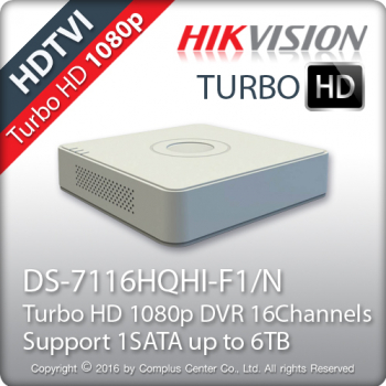 DVR TurboHD 16 canale Hikvision - DS-7116HQHI-F1/N