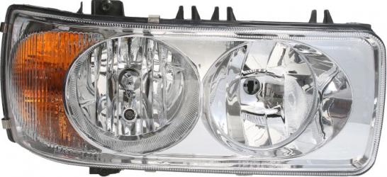 Far dreapta H1/H7/P21W/W5W electric fundal crom culoare Semnalizator portocaliu DAF 75 CF 85 CF 95 XF dupa 1997