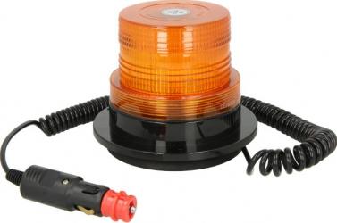 Girofar portocaliu 12/24V LED fixare magnetica cu fire 4m Sistem iluminat