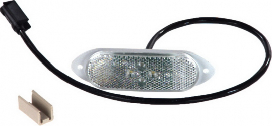Reflector alb LED lumini pozitie 24V conector AP 500mm