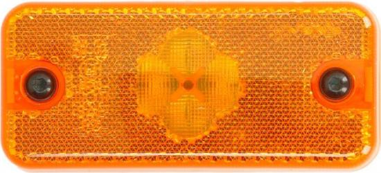 Reflector dreptunghiular portocaliu 2xLED-24V 110x50x18mm