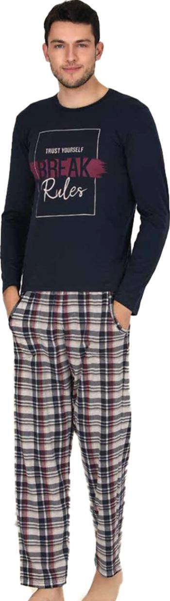 Pijama barbati maneca lunga 3780 Negru S Pijamale barbati