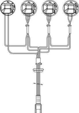 Cablaj lumini for Far SCANIA 4 P G R T dupa 2005 Elemente caroserie