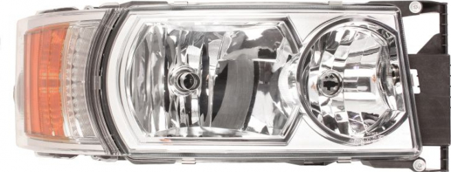 Far dreapta 4LED/8LED/H1/H21W/H7 electric crom cu Semnalizator fundal crom culoare Semnalizator portocaliu SCANIA P G R T dupa 2012
