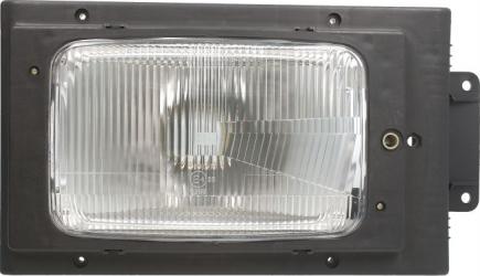 Far dreapta H4 fundal argintiu SCANIA 2 3 intre 1980-1996 Sistem iluminat