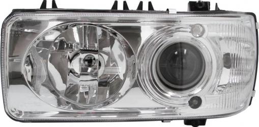 Far stanga D2S/H1/PY21W/W5W electric fara invertor fundal crom culoare Semnalizator alba DAF CF 65 CF 75 CF 85 XF 105 XF 95 dupa 2001 Sistem iluminat