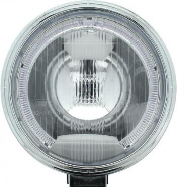 Far universala stanga/dreapta faza lunga H1 12/24V diametru 225mm alb plastic negru halogen lumina pozitie LED rama cromat Sistem iluminat