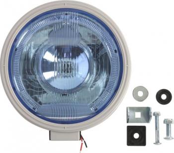 Far universala stanga/dreapta faza lunga H1 12/24V diametru 225mm albastru plastic negru halogen Sistem iluminat