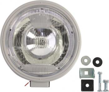 Far universala stanga/dreapta H1 12/24V diametru 225mm alb plastic negru halogen Sistem iluminat
