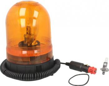 Girofar portocaliu 12/24V H1 fixare magnetica cablu 4m