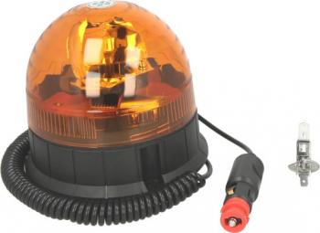 Girofar portocaliu 12/24V H1 fixare magnetica cablu 4m Sistem iluminat