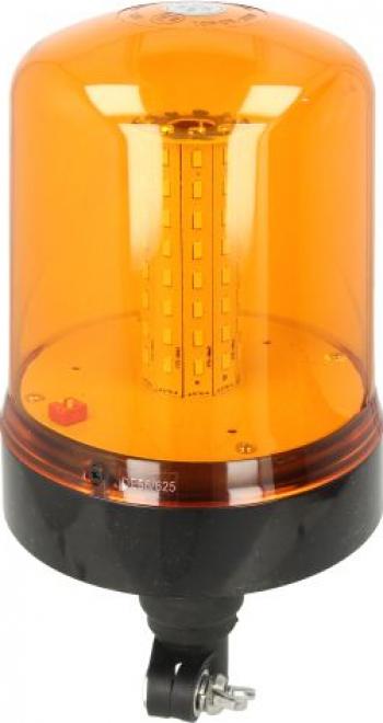 Girofar portocaliu 12/24V LED tubular cap