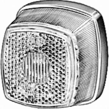 Lampa gabarit stanga/dreapta alb C5W inaltime 62 latime 62 adancime 46 12/24V Sistem electric
