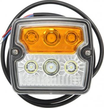 Lampa Semnalizator fata stanga/dreapta culoare sticla portocaliu/transparent LED cu Lumini pozitie