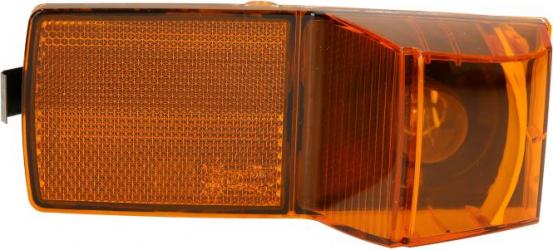 Lampa Semnalizator fata stanga/dreapta portocaliu P21W fundal negru in cabina treapta SCANIA P G R T dupa 2004 Sistem electric