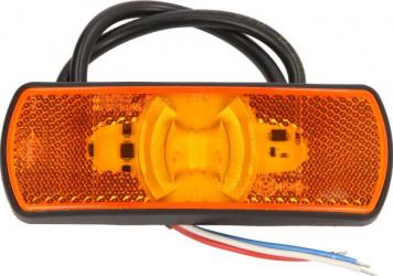 Lumini marcaj spate stanga/dreapta portocaliu LED inaltime 44 latime 122 adancime 19 suprafata lungime furtun 500 12/24V cu functie