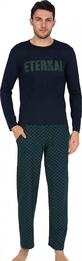 Pijama barbati maneca lunga 3768 Negru S