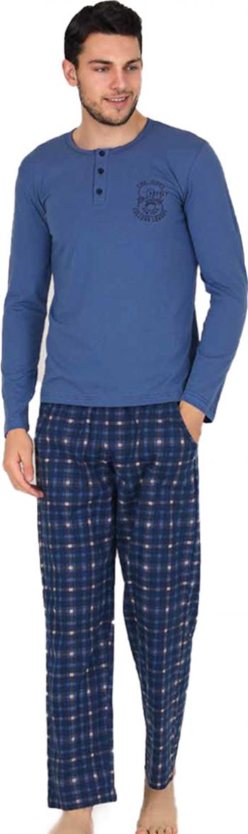 Pijama barbati mineca lunga 3785 Albastru S Pijamale barbati