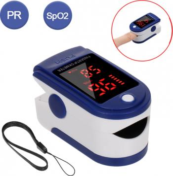 Pulsoximetru cu ecran digital pentru masurarea nivelului de oxigen din sange si a pulsului portabil