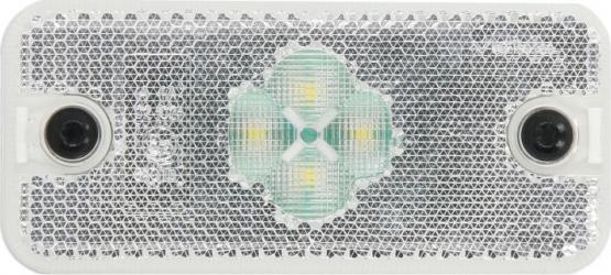 Reflector alb dreptunghiular LED-24V 110x50x18mm