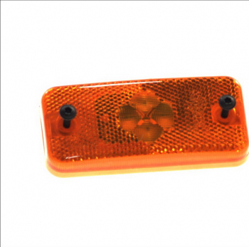 Reflector dreptunghiular portocaliu 4xLED - 12V