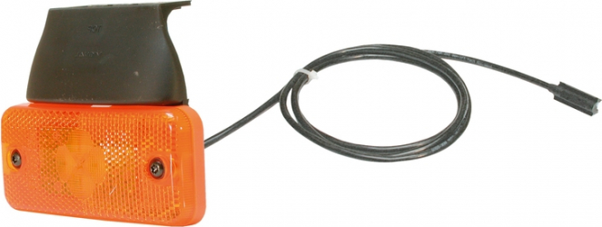 Reflector portocaliu LED 24V cu 500mm cablu si conector AP