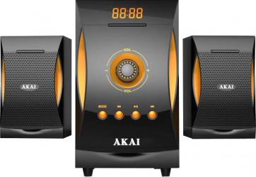 Sistem 2.1 Akai 38W Bluetooth Radio FM 20 canale Negru