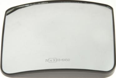 Sticla oglinda exterioara stanga inferior incalzita 24V 197X181 MAN TGX dupa 2007