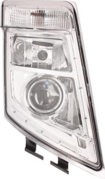 Far dreapta 2LED/D2S/H7/PY21W manual fundal crom VOLVO FH FH 16 FM dupa 2008 Sistem iluminat