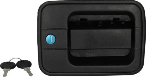 Maner usa stanga exterior cu chei cu incuietoare negru IVECO EUROCARGO I-III intre 1991-2005 Elemente caroserie