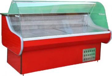 Vitrina frigorifica KlaussTech orizontala geam curbat termostat automat cu control temperatura Lazi si congelatoare