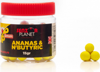 Pop-up colorat 8mm aroma ananas and N-nutyric ambalaj 15gr by Accesfishing