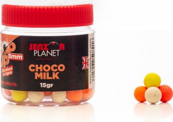Pop-up colorat 8mm aroma choco milk ambalaj 15gr by Accesfishing