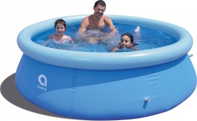 Piscina Avenli pentru copii cu inel gonflabil pompa de filtrare si supapa pentru evacuare apa diametru 240cm capacitate 2071 L Piscine