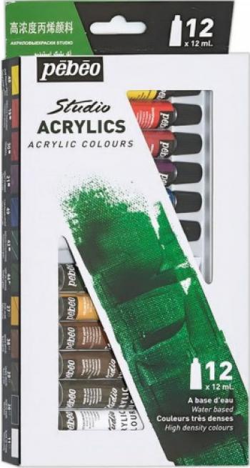 Set 12 x 12ml culori acrilie Studio Pebeo 668700 Hobby uri creative