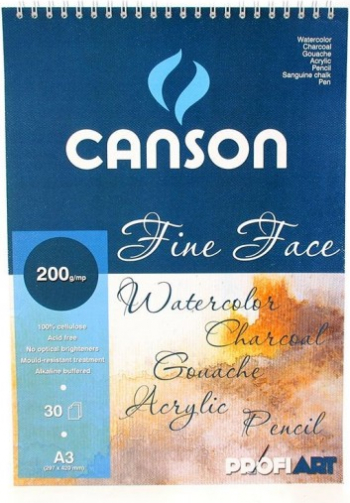 Bloc Canson Fine Face A4 Hobby uri creative