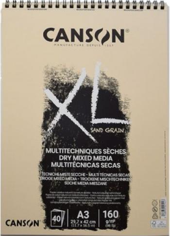 Bloc desen XL Sand Grain 160 g/mp 40 file Canson alb natural a4 Hobby uri creative
