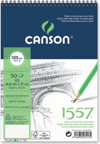 Bloc Schite 1557 Canson A5 30 file 180gr spira pe latura scurta Hobby uri creative