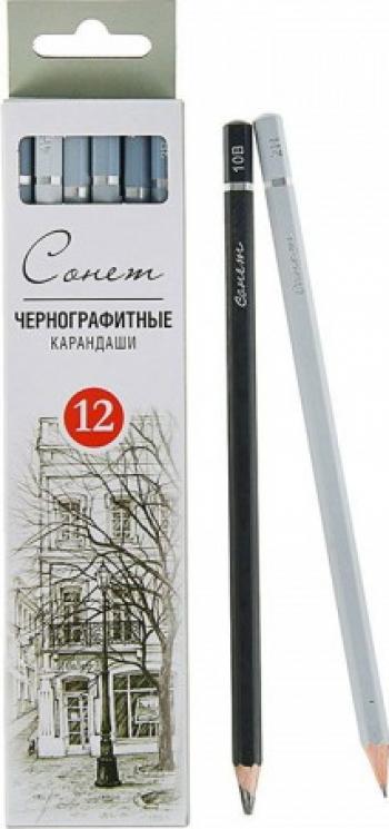 Set 12 creioane desen si schite 2H - 8B Sonnet 12941432 Hobby uri creative
