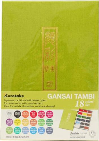Set 18 acuarele japoneze Gansai Tambi Kuretake Hobby uri creative