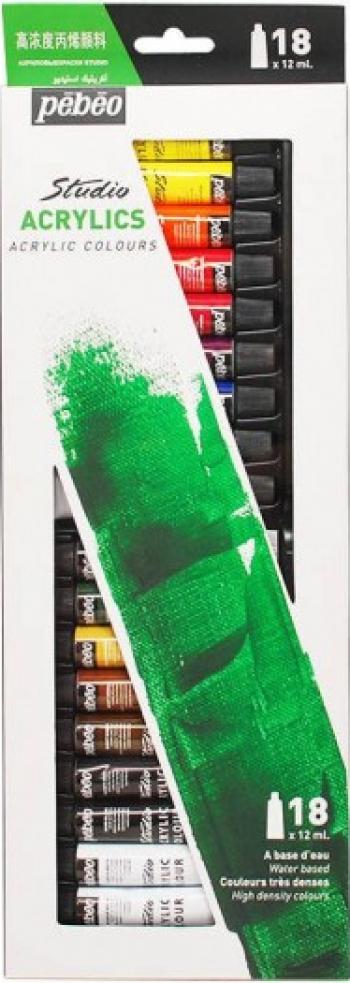Set 18 x 12ml culori acrilice Studio Pebeo 668710 Hobby uri creative
