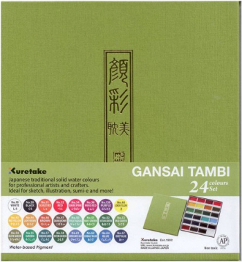 Set 24 acuarele japoneze Gansai Tambi Kuretake Hobby uri creative
