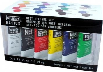 Set 24 x 22ml culori acrilice Liquitex Basics Hobby uri creative