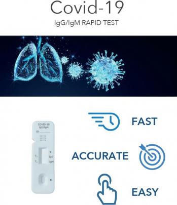 TEST RAPID COVID-19 Anticorpi IgG/IgM Assut Europe Italia Set 2 buc Certificare CE Teste rapide covid anticorpi antigen